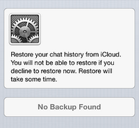 iCloud Whatsapp backup greyed out
