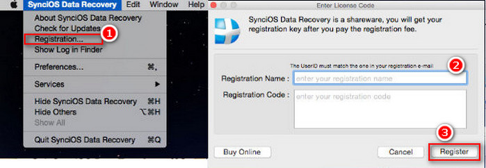 syncios data transfer registration name and code